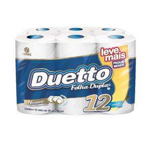 Papel Higiênico Folha Dupla Duetto Leve + Pague –
