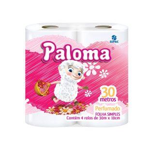 Papel Higiênico Folha Simples Paloma Perfumado