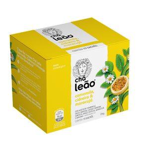 Chá Leão Premium Camomila, Cidreira e Maracujá