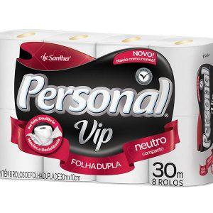 Papel Higiênico Folha Dupla Personal Vip Compacto