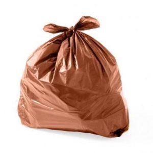 Saco de Lixo Marrom Reforçado
