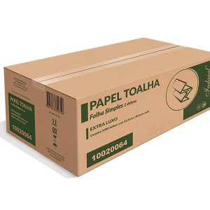 Papel Toalha Interfolha 2D Folha Simples Indaial Extra Luxo