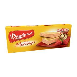 Biscoito Wafer Bauducco Morango