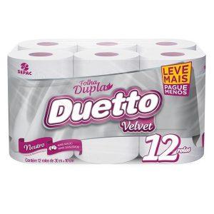 Papel Higiênico Folha Dupla Duetto Velvet Leve + Pague –
