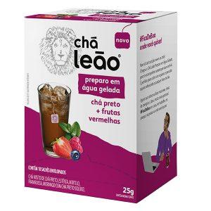 Chá Leão Gelado Preto com Frutas Vermelhas