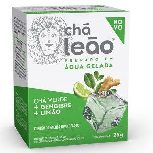 Chá Leão Gelado Verde com Limão e Gengibre
