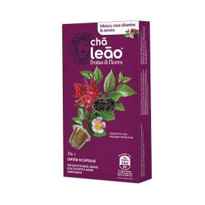 Cápsula de Chá Leão Hibisco/Rosa Silvestre/Amora