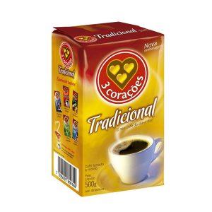 Café 3 Corações A Vácuo Tradicional