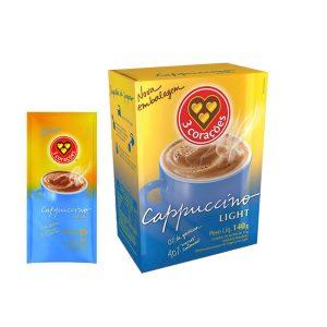 Cappuccino Light Sache 3 Corações