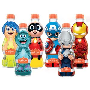Água Mineral 330ml Bonafont Pixar e Vingadores